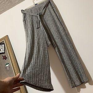 Tie Front Salt & Pepper Pants